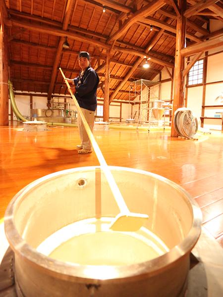 Spring sake brewery