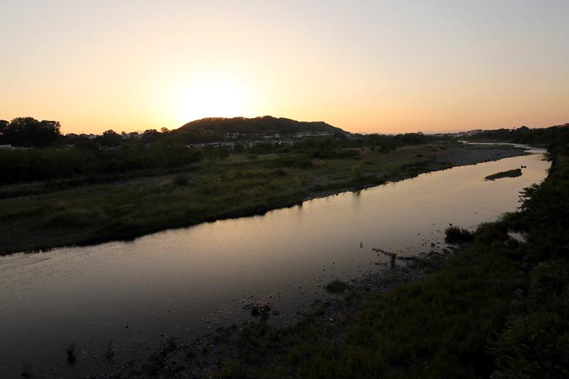 多摩川夕景